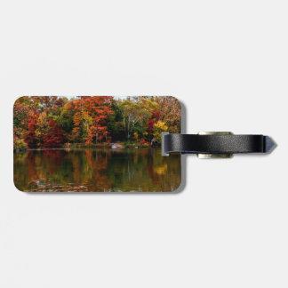 Central Park Autumn Fall Landscape Photo Travel Bag Tag