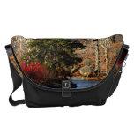 Central Park Autumn Landscape Photo Messenger Bag