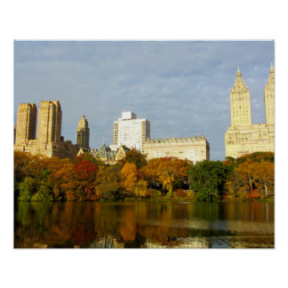 Central Park Autumn Mood New York City Poster