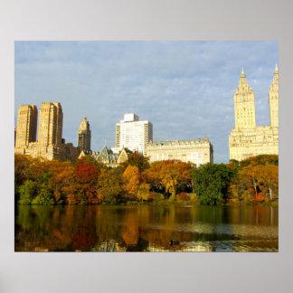 Central Park Autumn Mood New York City Poster