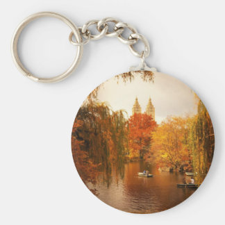 Central Park Autumn Romance Keychain