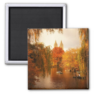 Central Park Autumn Romance Magnet