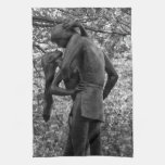 Central Park Autumn: Romeo & Juliet Statue 01 B&W Hand Towel