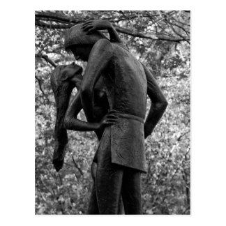Central Park Autumn: Romeo & Juliet Statue 01 B&W Post Cards