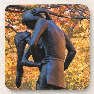 Central Park Autumn: Romeo & Juliet Statue 01 Coaster