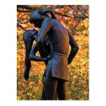 Central Park Autumn: Romeo & Juliet Statue 01 Post Cards