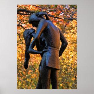 Central Park Autumn: Romeo & Juliet Statue 01 Posters