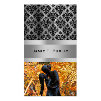 Central Park Autumn: Romeo & Juliet Statue 02 Double-Sided Standard Business Cards (Pack Of 100)