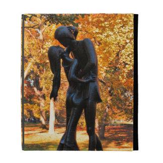 Central Park Autumn Romeo Juliet Statue 02 iPad Folio Cover