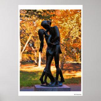 Central Park Autumn: Romeo & Juliet Statue 02 Poster