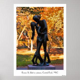 Central Park Autumn: Romeo & Juliet Statue 02C Posters
