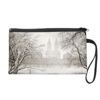Central Park - Beautiful Winter Snow Wristlet