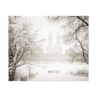 Central Park - Beautiful Winter Snow Canvas Print