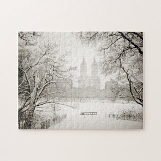 Central Park - Beautiful Winter Snow Jigsaw Puzzle