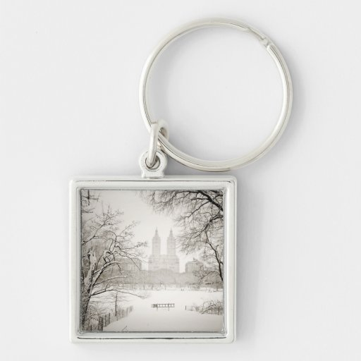 Central Park - Beautiful Winter Snow Key Chain