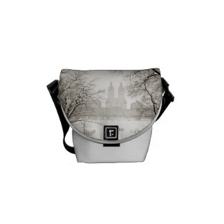Central Park - Beautiful Winter Snow Courier Bag