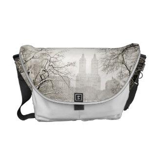 Central Park - Beautiful Winter Snow Messenger Bag