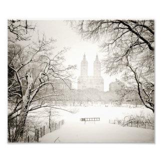 Central Park - Beautiful Winter Snow Photo Print