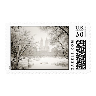 Central Park - Beautiful Winter Snow Postage