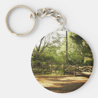 Central Park Bench, Summer, New York City Basic Round Button Keychain