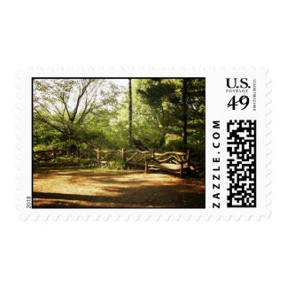 Central Park Bench, Summer, New York City Postage Stamps