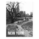 Central Park blanco negro Nueva York Postal
