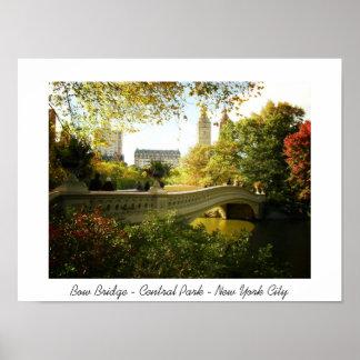 Central Park - Bow Bridge - New York City Posters