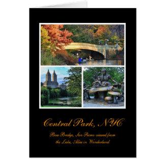 Central Park: Bow Bridge, San Remo, Alice in W.... Card