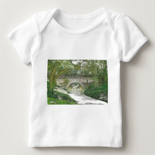 Central Park Bridge and Path Baby T-Shirt
