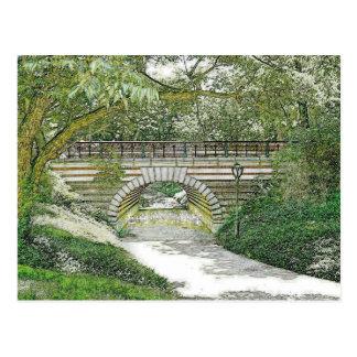 Central Park Bridge and Path Postcard