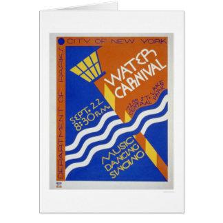 Central Park Carnival 1936 WPA Card