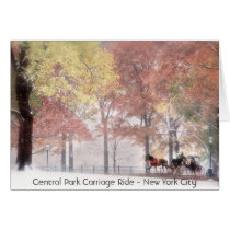 Central Park Carriage Ride - New York Card