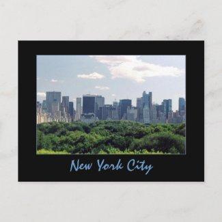Central Park & Central Park South Postcard postcard