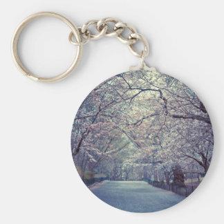 Central Park Cherry Blossom Path Keychain