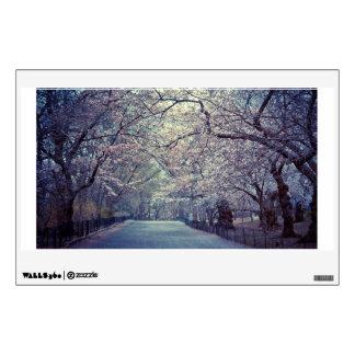 Central Park Cherry Blossom Path Wall Sticker