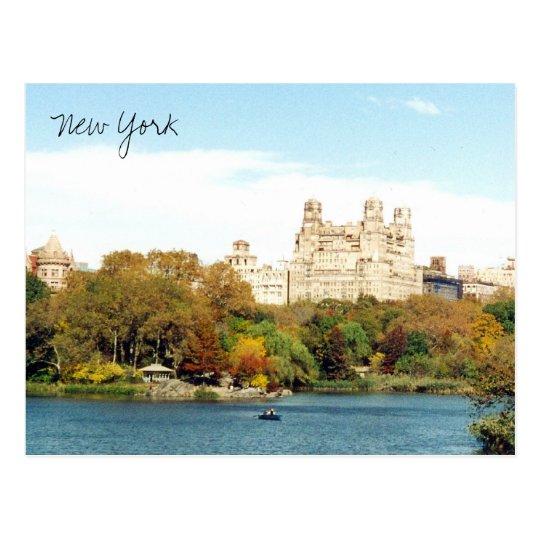 central park colors postcard