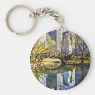 Central Park con la reflexión NYC Llavero Redondo Tipo Pin