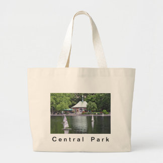 Central Park- Conservatory Water Large Tote Bag