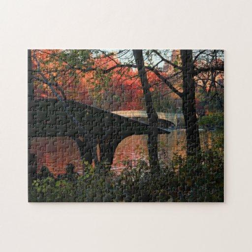 Central Park: Conversación a través del puente del Puzzle Con Fotos