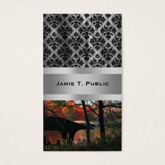 Central Park: Conversation Across From Bow Bridge Business Card