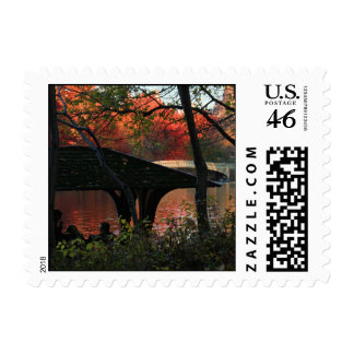 Central Park Conversation Across From Bow Bridge Postage Stamp