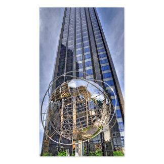 Central Park de la torre del círculo de Columbus d Tarjetas De Visita
