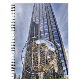 Central Park del globo del mundo del oeste Spiral Notebook