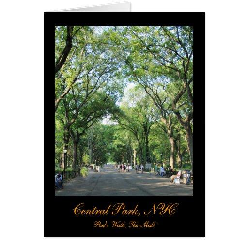 Central Park: El paseo del poeta en el verano Tarjeta De Felicitación