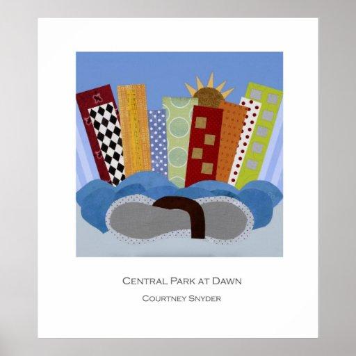 Central Park en el poster del amanecer