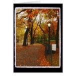 Central Park en otoño Tarjeton