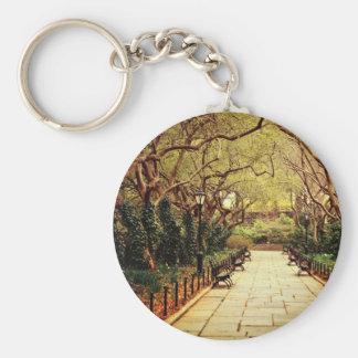 Central Park Fairy Tale Spring Path - New York Keychain