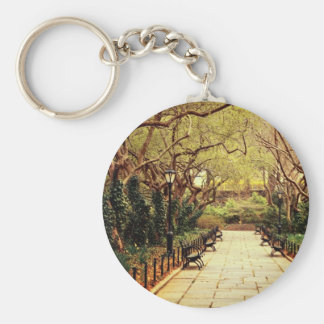 Central Park Fairy Tale Spring Path - New York Key Chain