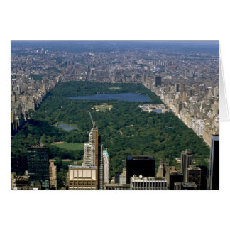 Central Park from the south, New York City, USA Greeting Card