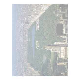 Central Park from the south, New York City, USA Letterhead